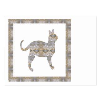 CAT pet animal CRYSTAL Jewel NVN452 KIDS LARGE Postcard