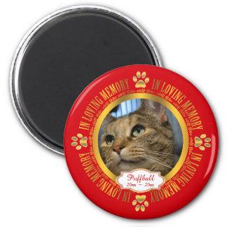 Cat Pet In Loving Memory Memorial Keepsake 6 Cm Round Magnet
