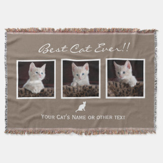 Cat Pet photo collage|Best Cat Ever|Instagram Throw Blanket