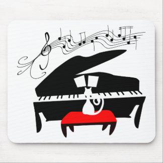 Cat & Piano Mouse Mat