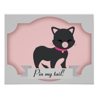 cat pin the tail poster