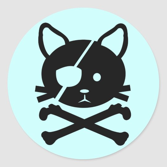 Cat Pirate Sticker