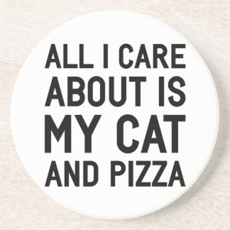 Cat & Pizza Coaster