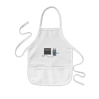 Cat Playing A Electric Guitar Apron