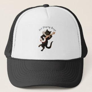 Cat playing Banjo Thunder_Cove Trucker Hat
