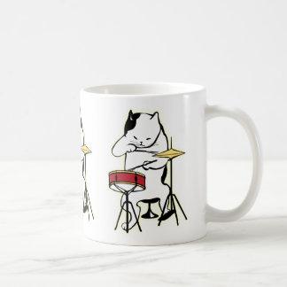 Cat Playing Drums Mug