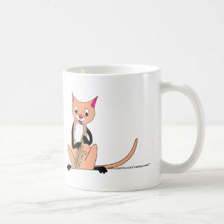 Cat Playing the Saxophone Coffee Mug