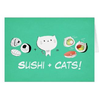 Cat plus Sushi equals Cuteness! Card