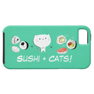 Cat plus Sushi equals Cuteness! Case For The iPhone 5