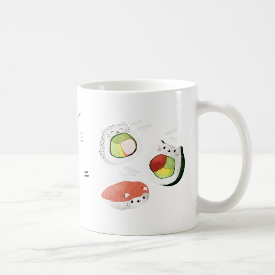 Cat plus Sushi equals Cuteness! Coffee Mug