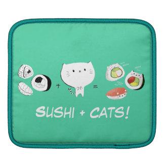 Cat plus Sushi equals Cuteness! iPad Sleeve
