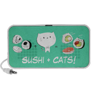 Cat plus Sushi equals Cuteness! Notebook Speaker