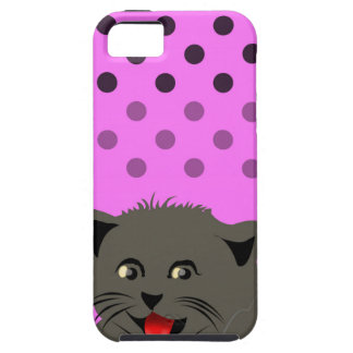 Cat_polka dot_baby girl_pink_desing iPhone 5 cover