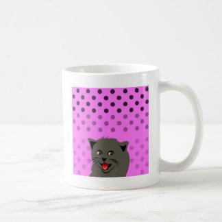 Cat_polka dot_baby girl_pink_desing mug