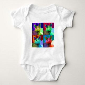 Cat Pop Art Baby Bodysuit