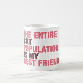 Cat Population in Pink Mug