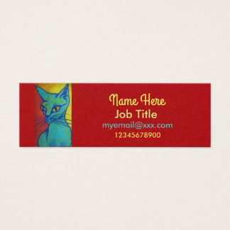 Cat portrait business card