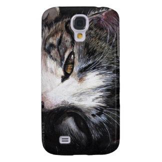 Cat Portrait iphone skin Galaxy S4 Case