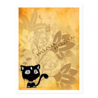 Cat postal postcard