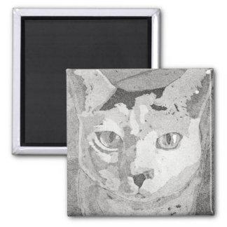 Cat Print Square Magnet