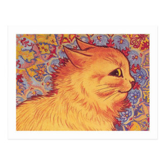 Cat Profile By Louis Wain Post Card