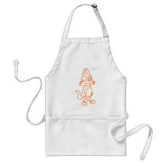 cat pulin contour orange apron