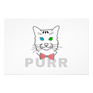 Cat Purr Photographic Print