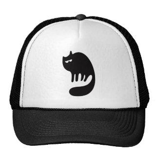 Cat Purring Black Hi Eyes Trucker Hat
