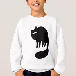Cat Purring Black Hi Eyes Sweatshirt