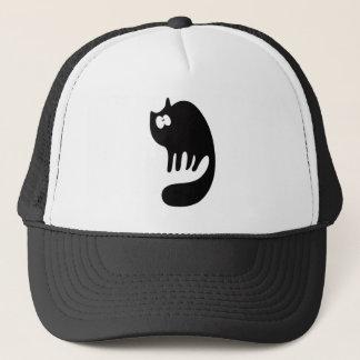 Cat Purring Black Wtf Eyes Trucker Hat