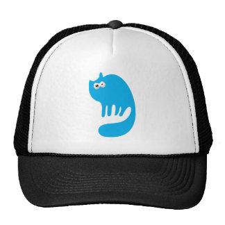 Cat Purring Blue Manic Bloodshot Eyes Trucker Hat
