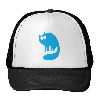 Cat Purring Blue Topsy Turvey Eyes Trucker Hats