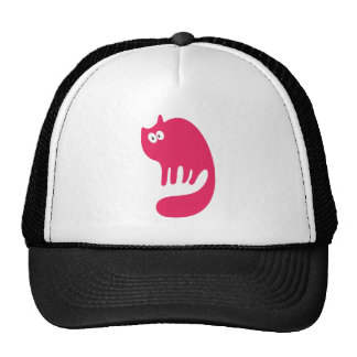 Cat Purring Pink Hello Eyes Cap