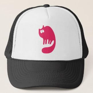 Cat Purring Pink Wtf Eyes Trucker Hat
