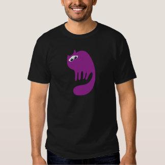Cat Purring Purple Sad Eyes T-shirt