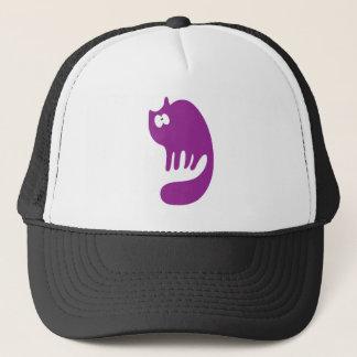 Cat Purring Purple Wtf Eyes Trucker Hat