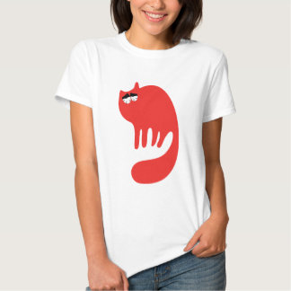 Cat Purring Red So Tired Eyes Shirt