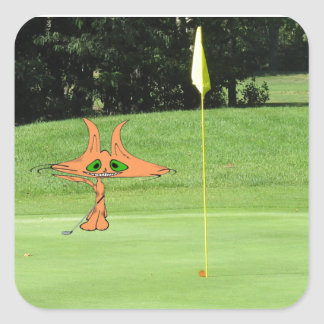 Cat Putts At The Golf Course Sticker