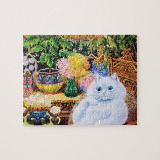 Cat Puzzle, Louis Wain Cat In Garden Puzzle