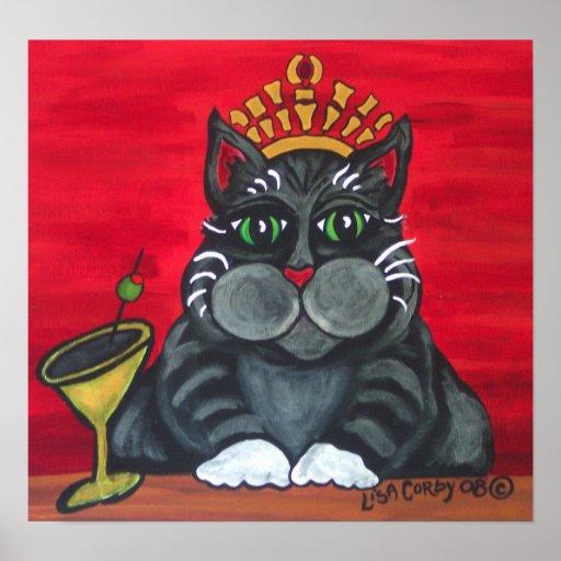 Cat Queen Poster