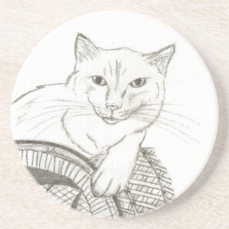 Cat Ragdoll Portrait Coaster