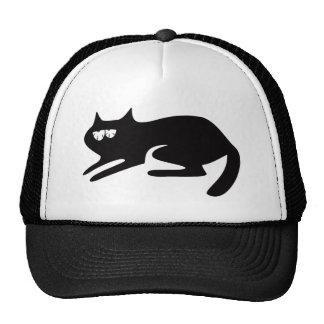 Cat Ready To Pounce Black So Tired Eyes Cap
