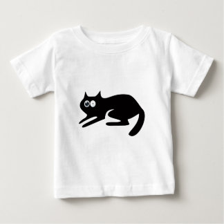 Cat Ready To Pounce Black Stunned Eyes Baby T-Shirt
