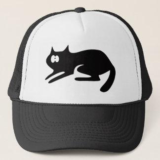Cat Ready To Pounce Black Wtf Eyes Trucker Hat
