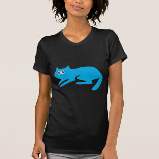 Cat Ready To Pounce Blue Cash Eyes Blue T-Shirt