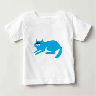 Cat Ready To Pounce Blue Hi Eyes Baby T-Shirt