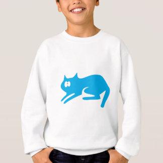Cat Ready To Pounce Blue Wtf Eyes Sweatshirt