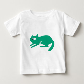 Cat Ready To Pounce Green Stunned Eyes Baby T-Shirt