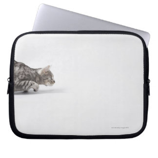 Cat ready to pounce laptop sleeve