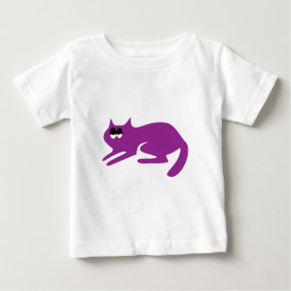Cat Ready To Pounce Purple Hi Eyes Baby T-Shirt